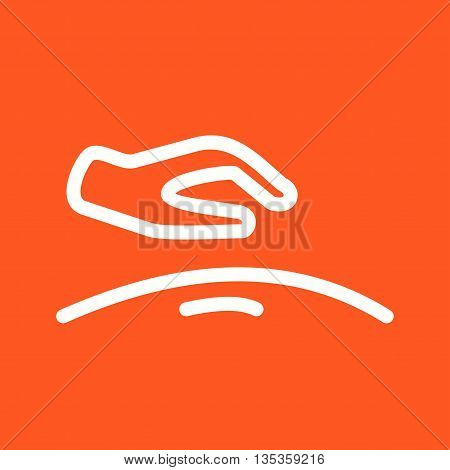 Massage, hand, body icon vector image.Can also be used for spa. Suitable for mobile apps, web apps and print media.