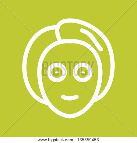 Mask, face, facial icon vector image.Can also be used for spa. Suitable for mobile apps, web apps and print media.