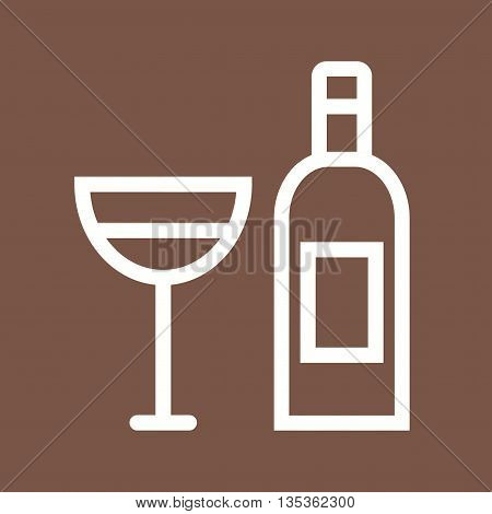Wine, champagne, goblet icon vector image. Can also be used for celebrations. Suitable for use on web apps, mobile apps and print media