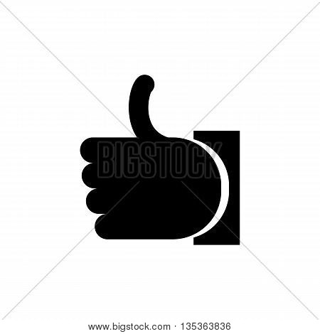 Flat icon hand. Thumb up. Vector icon