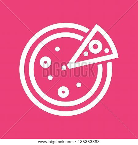 Pizza, food, party icon vector image. Can also be used for celebrations. Suitable for use on web apps, mobile apps and print media