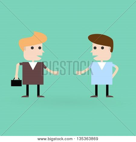 Business situation. business meeting. Vector flat  illustration