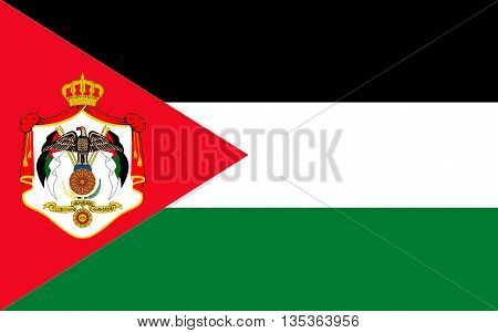 Flag of Jordan officially the Hashemite Kingdom of Jordan is an Arab kingdom in Western Asia on the East Bank of the Jordan River.