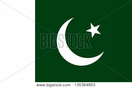 Flag of Pakistan officially the Islamic Republic of Pakistan is a country in South Asia. 3D illustration