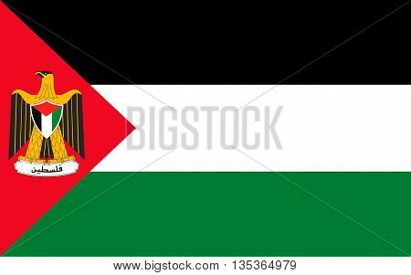 Flag of Palestine is a state in the Middle East.