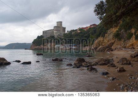 Beach Of Lerici In Liguria