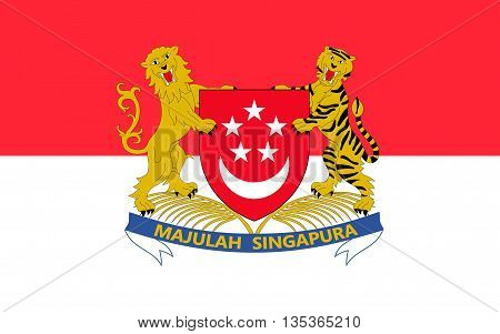 Flag of Singapore officially the Republic of Singapore is a global city and sovereign state in Southeast Asia.