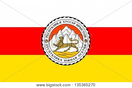 Flag of South Ossetia or Tskhinvali Region is a partially recognised state in the South Caucasus located in the territory of the South Ossetian Autonomous Oblast.