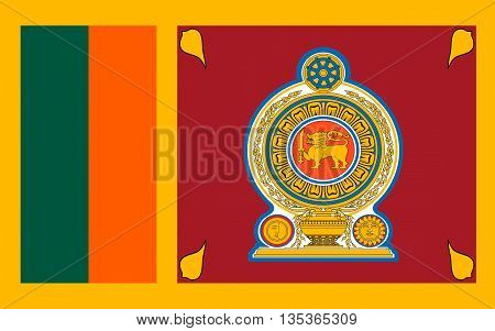 Flag of Sri Lanka officially the Democratic Socialist Republic of Sri Lanka is an island country in South Asia near south-east India.