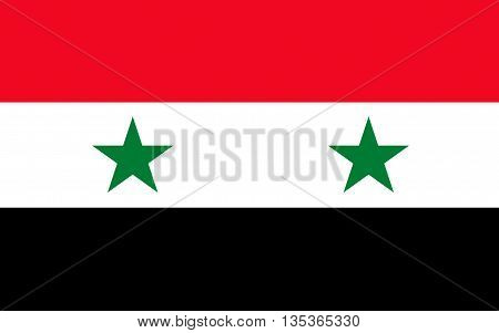 Flag of Syria officially the Syrian Arab Republic is a country in Western Asia.