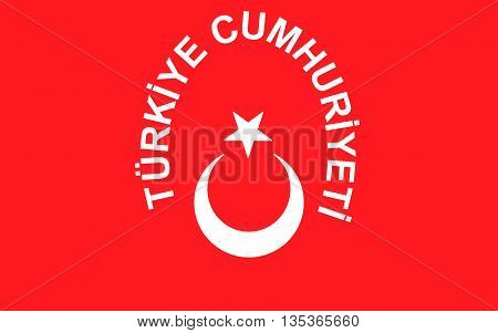 Flag of Turkey officially the Republic of Turkey is a parliamentary republic in Eurasia largely located in Western Asia with the smaller portion of Eastern Thrace in Southeast Europe.