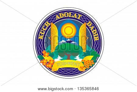Flag of Tashkent is the capital and largest city of Uzbekistan.