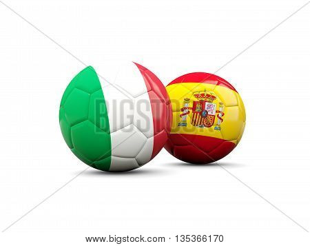 Spain And Italy Soccer Balls