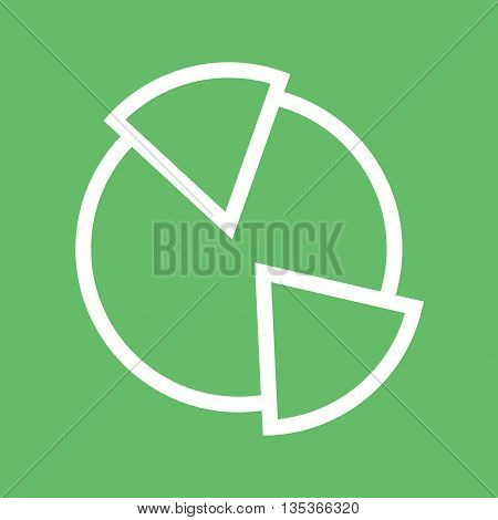 Pie, chart, graph icon vector image. Can also be used for finances trade. Suitable for use on web apps, mobile apps and print media.