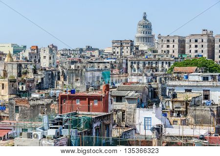 View Of La Habana Vieja From Cathedral, Cuba