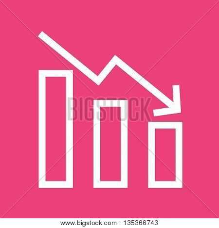 Down, loss, crisis icon vector image. Can also be used for finances trade. Suitable for use on web apps, mobile apps and print media.