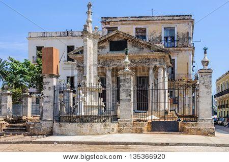 Old Church In La Habana Vieja, Cuba