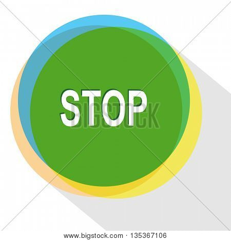 stop. Internet template. Vector icon.
