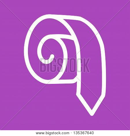 Tie, job, rolled icon vector image. Can also be used for employment. Suitable for use on web apps, mobile apps and print media.