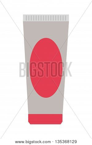 simple cream or gel tube package vector illustration