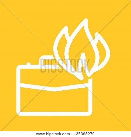 Fast, briefcase, fire icon vector image. Can also be used for employment. Suitable for mobile apps, web apps and print media.
