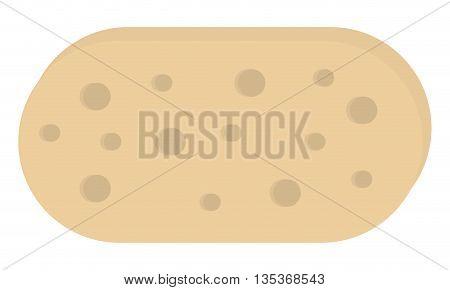 flat design beige bath sponge icon vector illustration