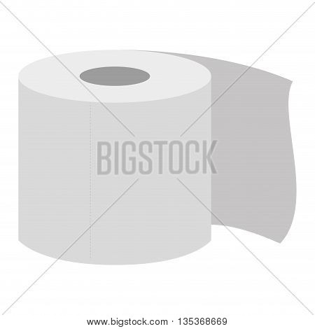 simple white toilet paper roll icon vector