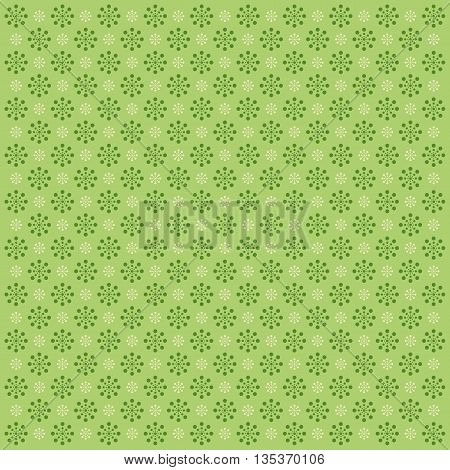 Abstract colorful background with circles. Green image.
