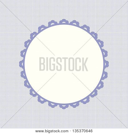 Happy Birthday card frame design. Vector image