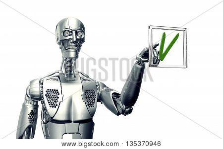 Humanoid Robot Isolated On White