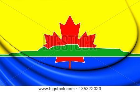 Flag Of Thunder Bay (ontario), Canada.