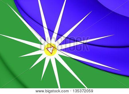 Flag Of Uberlandia (minas Gerais), Brazil.
