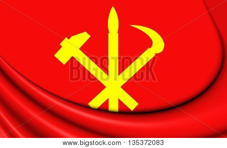 Flag Of Workers' Party Of Korea, Dprk.