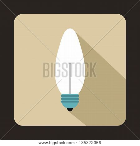 Lamp oval shape icon in flat style on a beige background