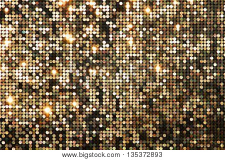 Golden background (texture) mosaic with light spots