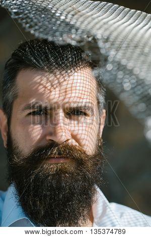 Bearded Man In Sun Light