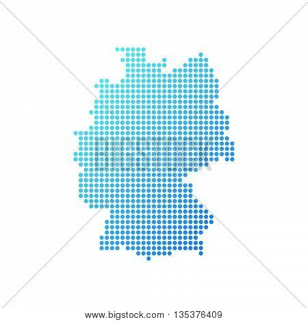 Map of Germany, Vector Icon in blue color