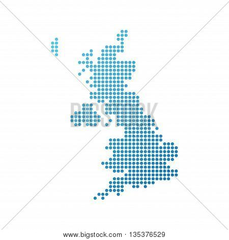 Map of United Kingdom Icon in blue color