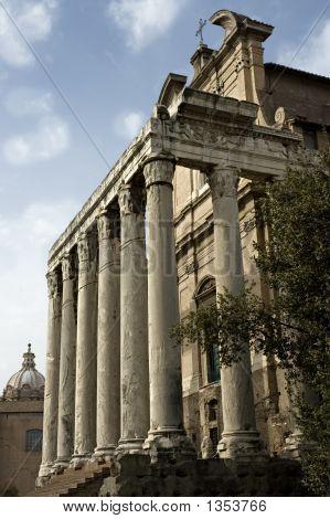 Temple On The Roman Forum