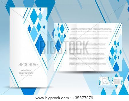 geometric abstract rhombus business brochure design template