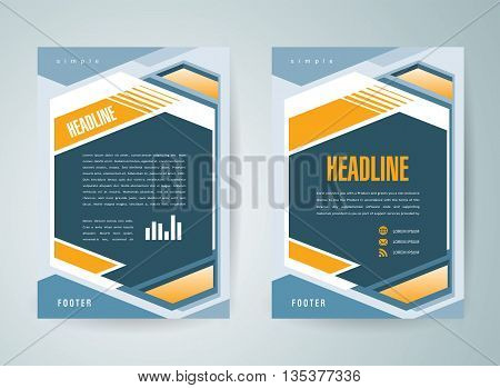 Flyer brochure design template abstract geometric cover