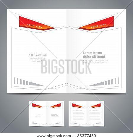monster booklet catalog abstract geometric figure line frame - brochure design template