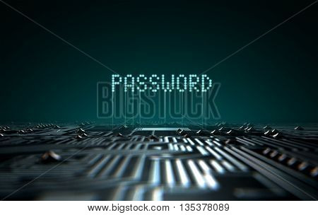 Circuit Board Projecting Password