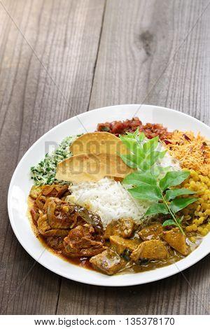 sri lankan rice and curry dish