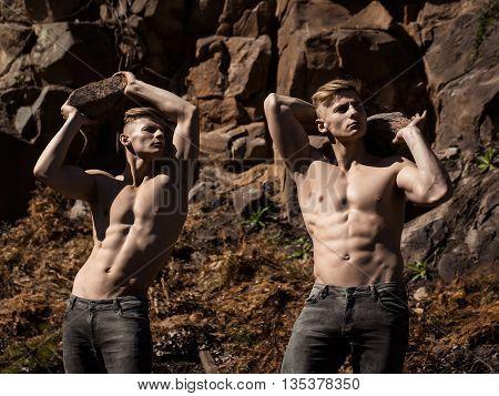 Muscular Young Men