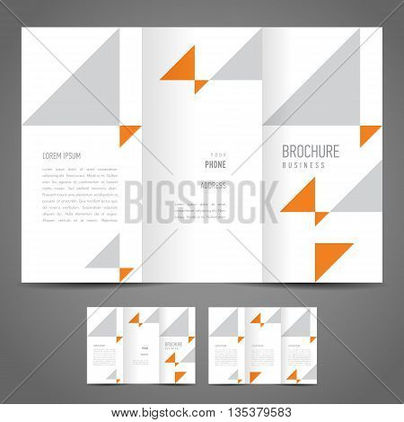 Business brochure design template triangles geometric abstract