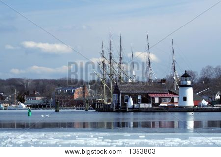 Mystic Seaport In Wintor