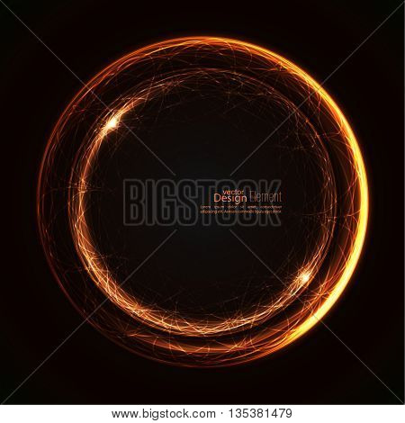 Abstract background with luminous swirling backdrop. Intersection curves. Glowing spiral. The energy flow tunnel.  Lights vector frame. brown, beige, bronze, sepia, chocolate. quantum