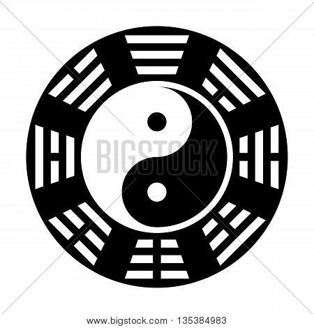Yin And Yang Symbol. Modern Yin-yang Symbol Isolated On White Background. Fu Xi
