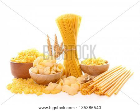 assorted variety of pasta